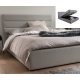 Cairo Hydraulic Storage Bed Woven Cream Double Only