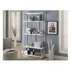 Diva Bookcase White with Chrome