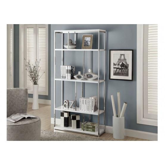 Diva Bookcase White with Chrome