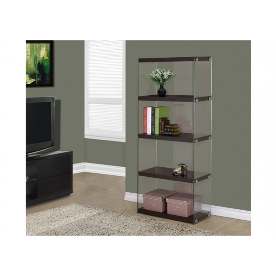 Nova Small Bookcase Cappuccino
