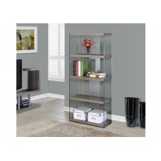 Nova Small Bookcase Dark Taupe