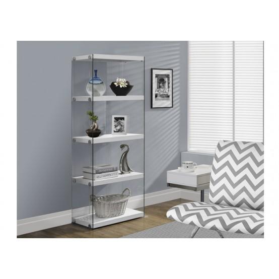 Nova Small Bookcase White