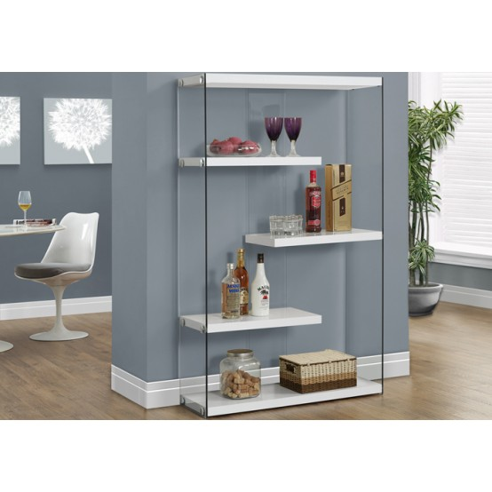 Nova Large Bookcase White
