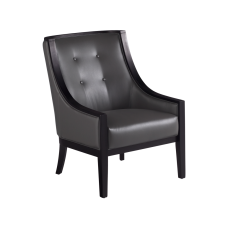 CYRANO ARMCHAIR GREY LEATHER
