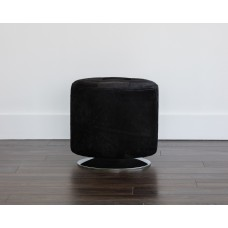 DOMANI SWIVEL OTTOMAN - SMALL FAUX FUR