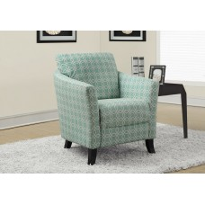 "Deja Accent Chair FADED GREEN "" ANGLED KALEIDOSCOPE """