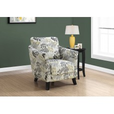 Deja Accent Chair Earth Tone Floral Fabric