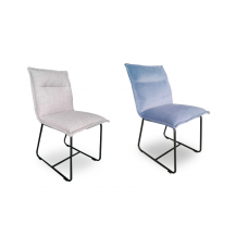 ALBA DINING CHAIR - ICE BLUE OR GREY VELVET
