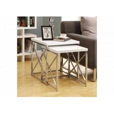 Diva Nesting Table  Set Glossy White