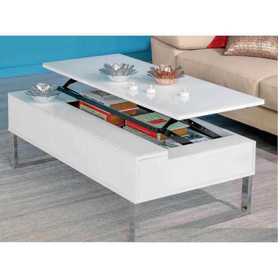 Jack Lift Up Coffee Table  Glossy White