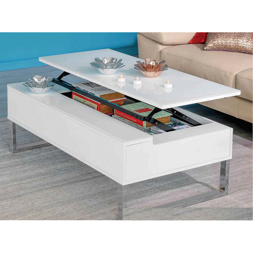 White Lift Up Coffee Table.Lift Up Coffee Table Glossy White