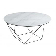 VALENCIA ROUND COFFEE TABLE - WHITE