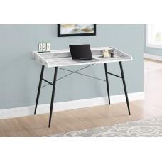 "Alen Computer Desk - 48""L / Marble Look / Black Metal"