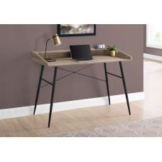 "Alen Computer Desk - 48""L / Taupe Reclaimed Wood / Black"