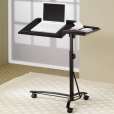 Lap Laptop Stand with Adjustable Swivel Top and Casters