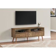 """Fargo TV STAND - 48""""L / WALNUT MID-CENTURY WITH 3 DRAWERS"""