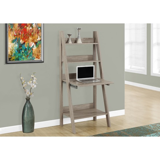 Organic Ladder Office Desk Dark Taupe