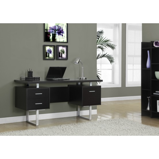 Wave Office Desk Dark Cappuccino