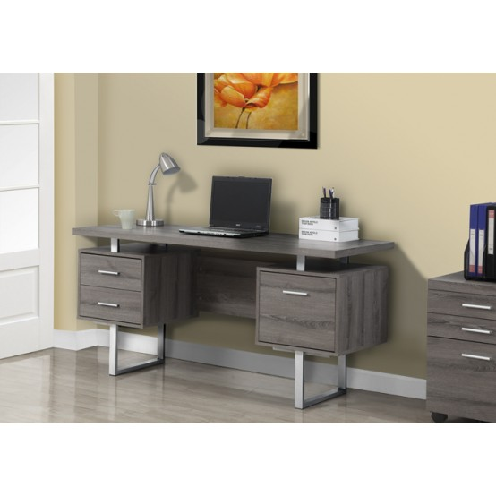 Wave Office Desk Dark Taupe