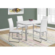 "Aden Dining Table– 32""X 48"" / WHITE / CHROME METAL"