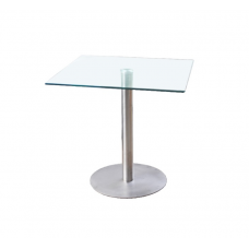 """Hurricane Dining Table  Glass 30"""" Square"""