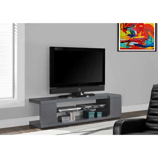 Hale TV Stand Glossy Grey
