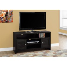 "TRIM TV STAND – 48""L / CAPPUCCINO WITH GLASS DOORS"