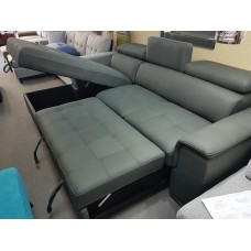 Jade Sofa Bed / Storage Grey Fabric