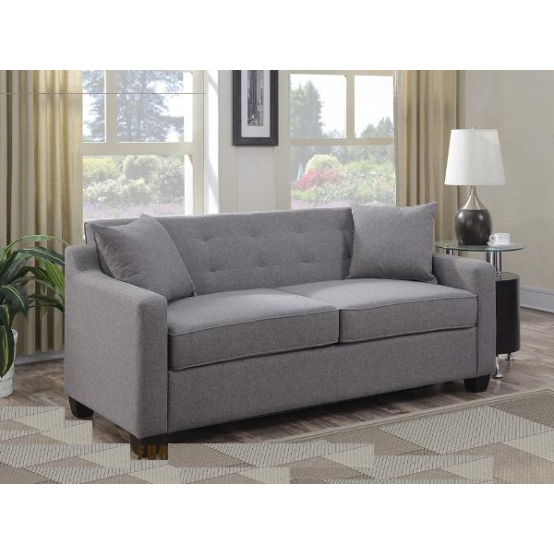 Uptown Sofa With Pullout Bed in Grey