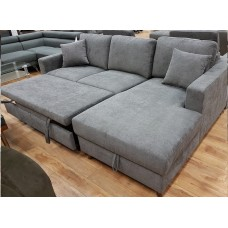 Amendo Sofa Bed / Storage Grey Fabric