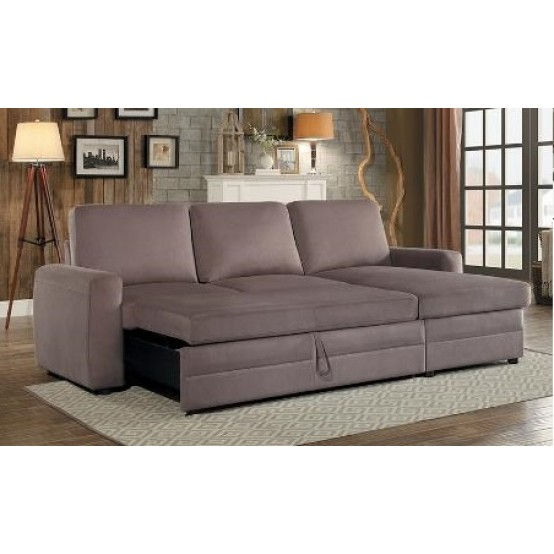 Comox Sofa Bed Light Brown / Reversible/ Storage