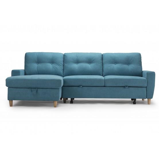 Francesca Sofa Bed Aqua Blue /  Storage Left or Right