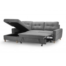 Francesca Sofa Bed Light Grey /  Storage Left