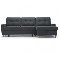 Francesca Sofa Bed Dark Grey /  Storage  Right