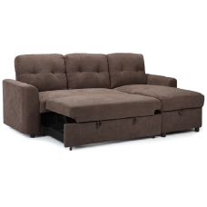 Vicki Sofa Bed Brown/  Storage Reversible