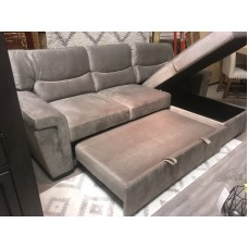 Vince Sofa Bed Taupe Velvet /  Storage Reversible